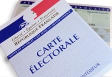 Carte d'électeur et liste électorale